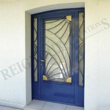 porte métallique vitre