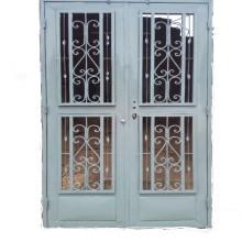 Porte vitre avec grille de protection